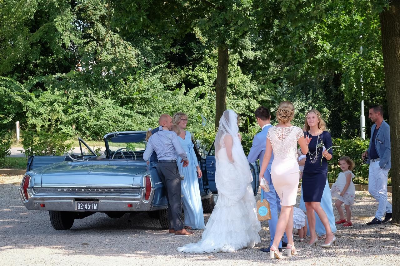 Trouwfoto's op trouwlocatie de Buitensociëteit & Bowling in Deventer